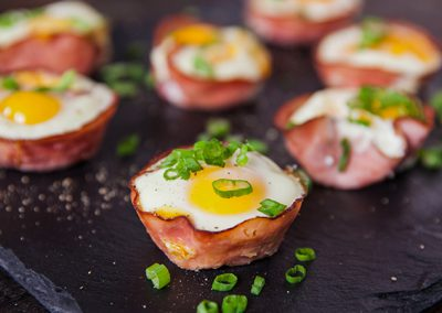 Black Forest Ham Cheesy Egg Cups