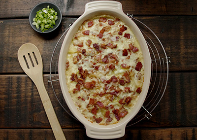 Ultimate Creamy Deep-Dish Bacon Scalloped Potatoes